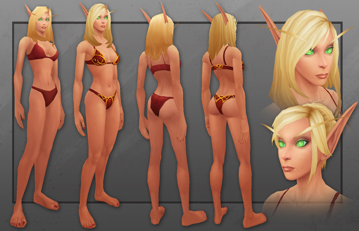 World of warcraft striping blood elf porn video