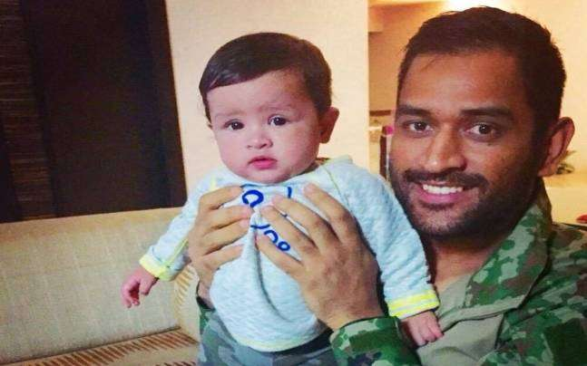 Ms dhoni and sakshi daughter