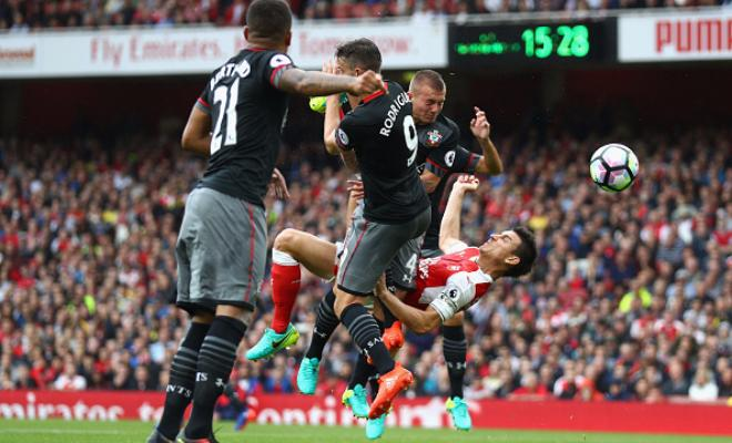 Here's a look at the overhead kick from Koscielny.