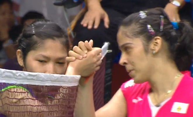 Victory for Sania Nehwal as she moves into the final to play Carolina Marin of Spain.
