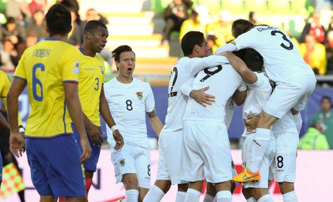 Ecuador 2-3 Bolivia (Valencia, Bolanos; Raldes, Smedberg, Moreno)