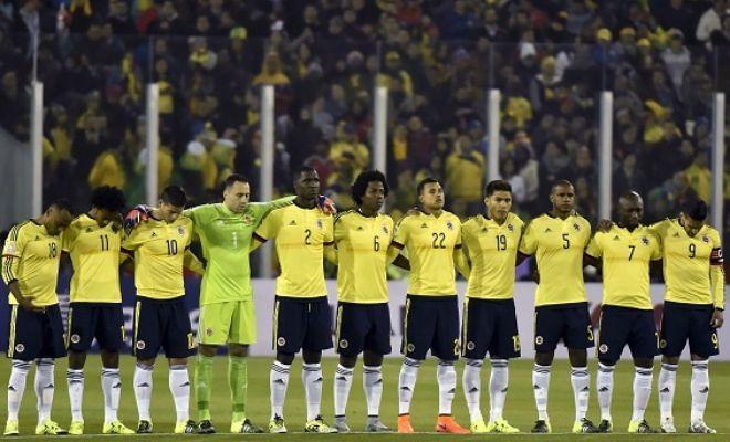 Colombia XI: Ospina, Zapata, Armero, Murillo, Zuniga, Sanchez, Valencia, Cuadrado, Rodriguez, Falcao, Gutierrez