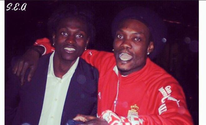 Emmanuel Adebayor with his brother