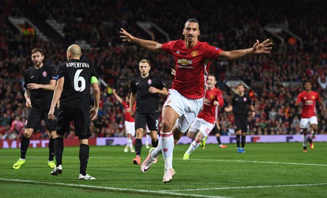 Manchester United were made to work on Thursday night at Old Trafford with a spirited Zorya Luhansk side giving them a good run around at Old Trafford. A goalless first half saw 11 shots in total from both sides but no shots on target.Marcus Rashford came the closest in the first half with a shot that rattled the crossbar. Paul Pogba and Juan Mata did create a few chances but the Red Devils simply couldn't find a way thorugh.It wasn't until Wayne Rooney's introduction that the goal came, albeit thorugh somewhat fortuitous circumstances. A scuffed shot from Rooney was nodded home by Zlatan Ibrahimovic at the post and that was enough to give United three points to open their account in the Europa League.