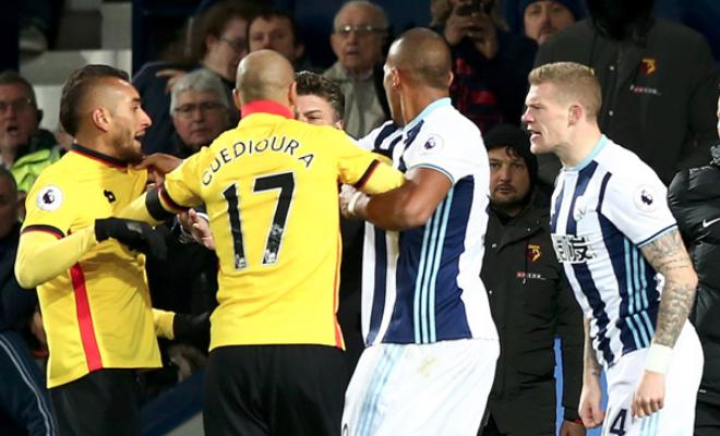 West Bromwich Albion and Watford have been charged by the FA after Saturday's match was marred by a late bust-up involving several members of both sides. An FA statement read: