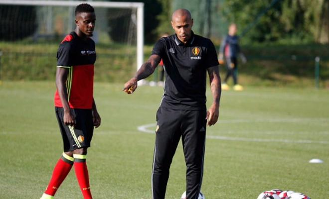 """He's a very big personality; you can see why he's a legend and a big name in the football world. He has a very high level of intelligence of football and especially for strikers. He tries to help me a lot; trying to optimise my qualities and use them in an efficient way. So these are all positive things and I'm very happy he's with the national team."""" - Divock Origin on Thierry Henry's coaching position at the Belgium National Team"""