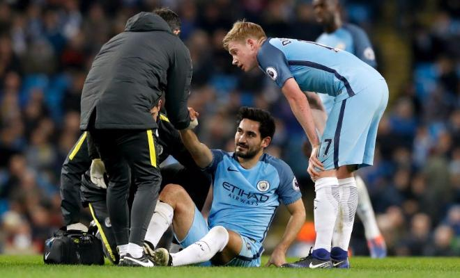 Manchester City midfielder Ilkay Gundogan is set to be out for