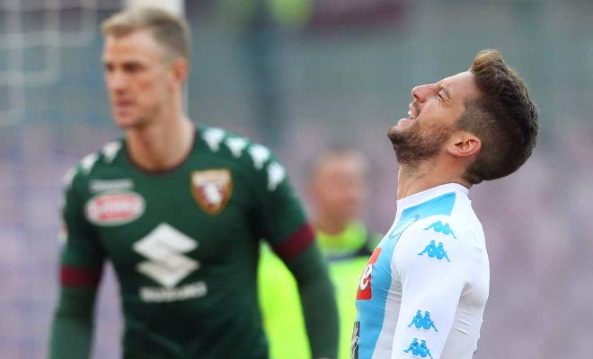 Joe Hart conceded 5 goals, including a brilliant chip from Dries Mertens, as his side Torino lost 5-3 to Napoli.