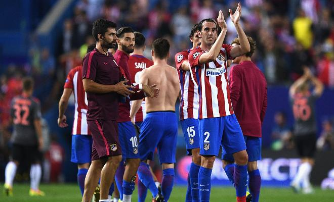 ATLETICO DEFENDER GODIN DEALING WITH LIGAMENT INJURY AFTER UCL MATCHAtletico Madrid defender Diego Godin suffered a sprained ankle ligament yesterday in their 1-0 Champions League win over Bayern Munich. The Uruguayan defender is now out for a few weeks with countryman Jose Gimenez.
