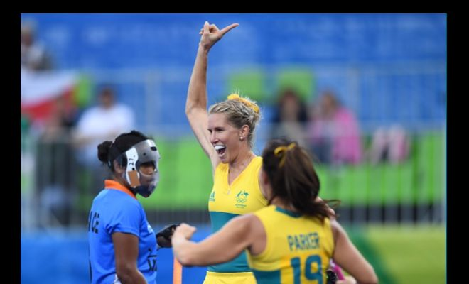 Jodie Kenny has been a menace for India, scoring 2 of the 6 goals.