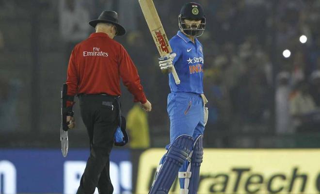Kohli took India past the finishing line with his 26th ODI hundred. (Photo credits: BCCI)