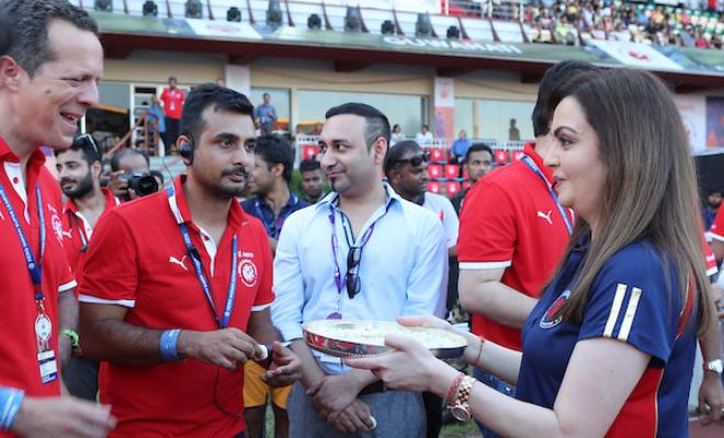 Sachin Tendulkar, Nita Ambani, MS Dhoni have all arrived at the venue.
