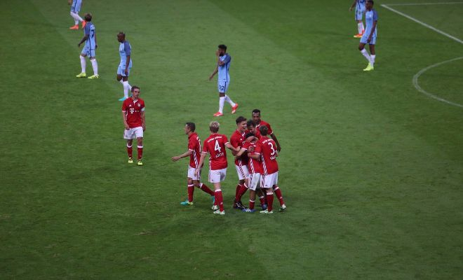83' Bayern celebrating the goal