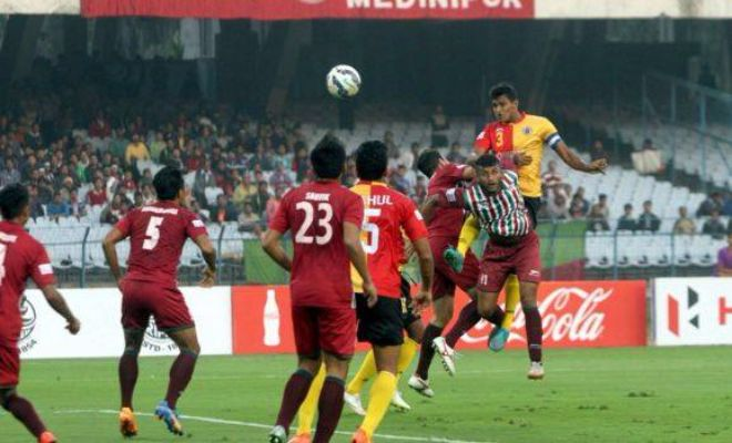 A well-fought Kolkata derby between Mohun Bagan and East Bengal at the Yuba Bharati Krirangan ended in a 1-1 draw on Saturday. The match between the defending I-League champions Mohun Bagan and their arch-rivals East Bengal saw some very competitive play, with both teams taking advantage of the chances that they created.