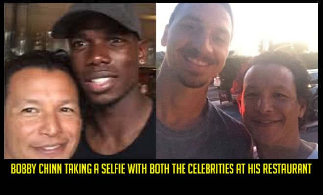 You asked for PAUL POGBA and we've already sensed something cooking!Paul Pogba was dining out with Zlatan Ibrahimovic in Los Angeles. And did they discuss his potential move to Manchester United?Chef Bobby Chinn tweeted that the two celebrities and their families dined together in California at his restaurant.He posted images on Instagram where he writes,