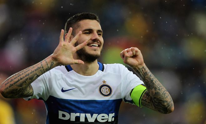 ICARDI SET FOR ARSENAL TALKS!Arsenal's search for a striker seems to be coming to an end with Sky Italia reporting that he's set for talks with the Gunners.