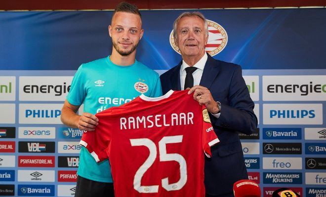 PSV Eindhoven sign RamselaarBart Ramselaar has joined PSV from Utrecht for an undisclosed fee on a five-year contract.