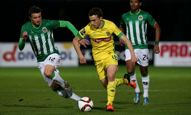 Gotcha! Diogo Jota.Atletico Madrid have confirmed the singing of Diogo Jota. The 19-year-old attacking midfielder has joined on a five-year deal.He signs from Primeria Liga side F.C. Paços de Ferreira.