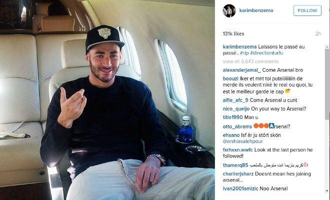 Karim Benzema posted a cryptic message on his Instagram account today. Arsenal perhaps?