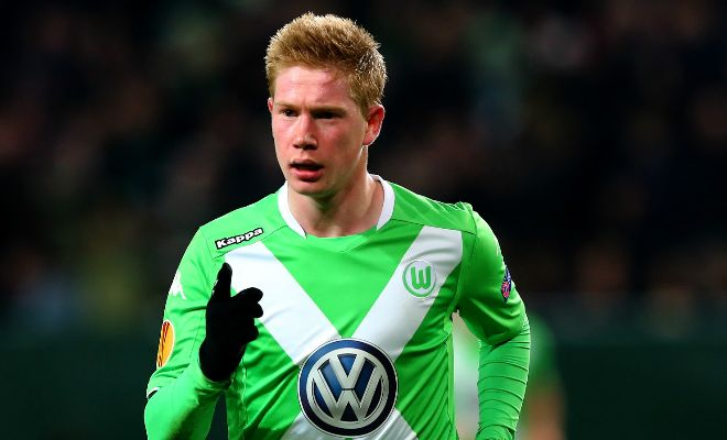 Wolfsburg sporting director Klaus Allofs says that it is '99.9 per cent certain' that reported Manchester City target Kevin De Bruyne will be staying at the club. [Sun]