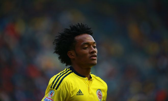 Colombia winger Juan Cuadrado could be the man to make way for Pedro in the squad,  with Italian club Juventus interested in the 27-year-old. [ Daily Express ]