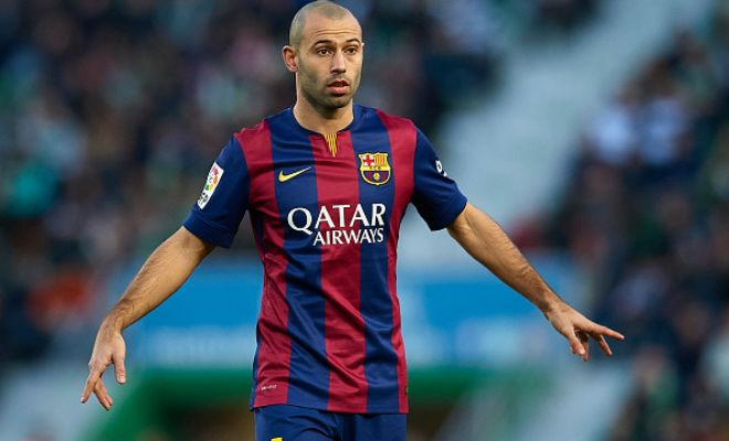 Barcelona will not let go Javier Mascherano with Serie A champions Juventus said to be heavily interested in the Argentine. (Tuttosport)