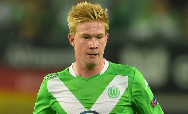 After signing Raheem Sterling, Manchester City have set their eyes on Wolfsburg midfielder Kevin de Bruyne. [Daily Telegraph]