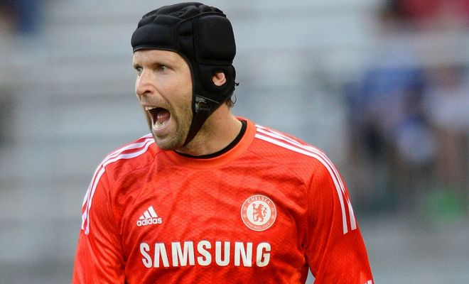 Chelsea manager Jose Mourinho insists any club interested in signing goalkeeper Petr Cech must swap a player of their own in return.