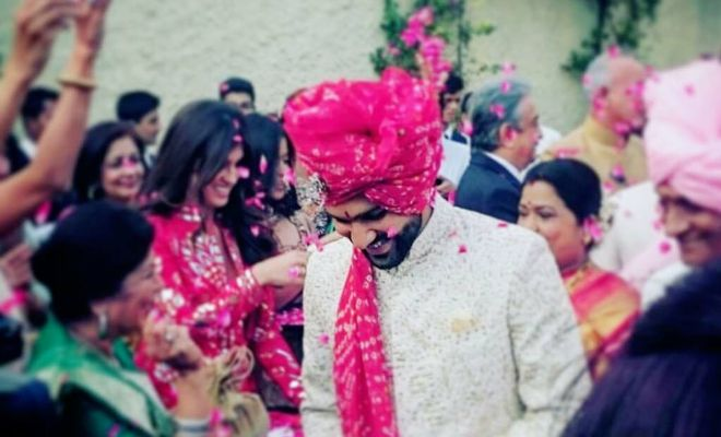 The groom - Rohit Sharma. (Photo via his official Facebook page)