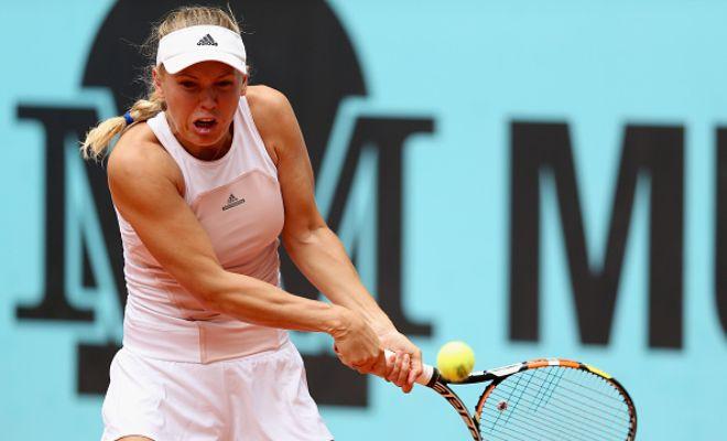 Wozniacki Hot Shot: WTA Madrid 2R | Tennis Video