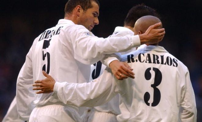 Real Madrid Castilla's current manager Zinedine Zidane and Roberto Carlos had played together at Real Madrid, and the two share quite the history.