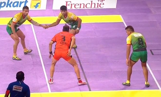 Anup Kumar's raid is empty as Patna Pirates' 3 defenders hold off the Indian international