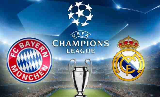 real madrid bayern live