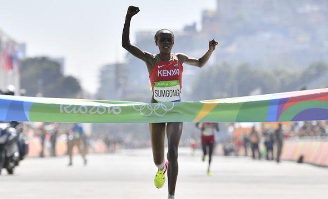 Kenya's Sumgong made history.