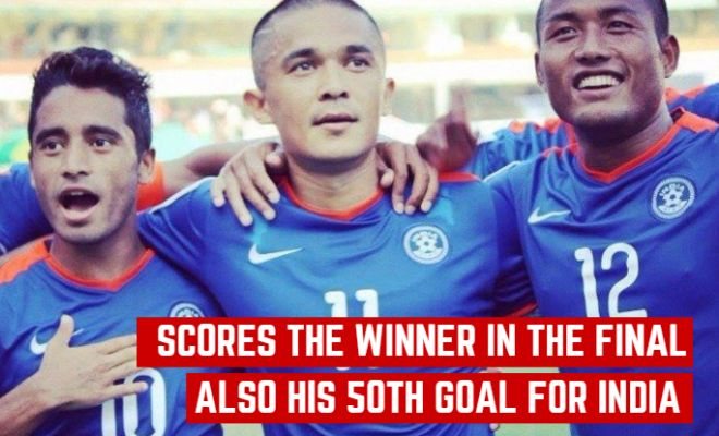 FT: India 2-1 Afghanistan. Yet another feather added to Sunil Chhetri's already glittering cap!