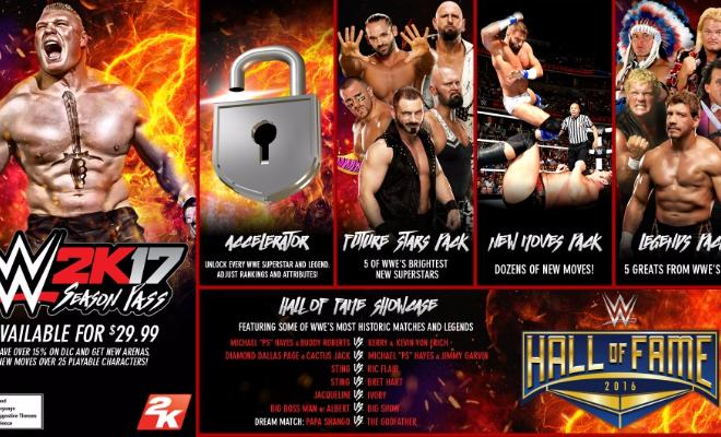 Latest additions to WWE 2k17
