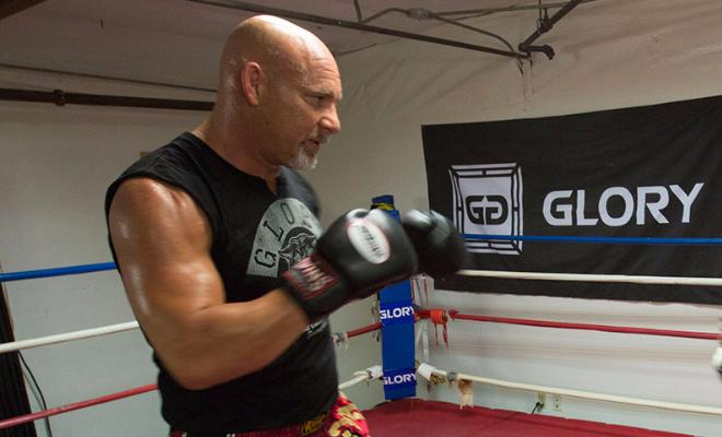 Goldberg during an earlier training