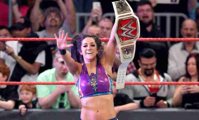 99930c86a98 WWE Superstars and Twitter react to Bayley winning the WWE RAW Championship
