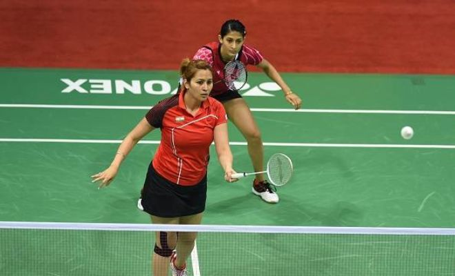 It took just 24 minutes for the Women's doubles pair of Jwala Gutta and Ashwini Ponnappa to move into the quarterfinals of the US Open Grand Prix Gold as they beat the pair of Ozge Bayrak and Neslihan Yigit of Turkey 21-10 21-18 in the second round on Thursday.
