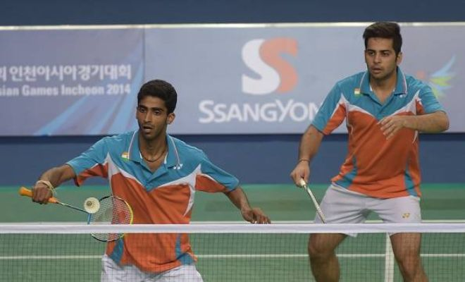 The Indian doubles pair of Manu Attri and Sumeeth Reddy progressed through to the semifinals of the US Open Grand Prix Gold after beating Marcus Ellis and Chris Langridge of Great Britain 22-20 21-13 in the quarterfinals, in just 42 minutes