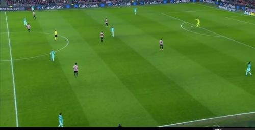 Enter cHigh pressing by Athletic Bilbao when opponents tried to play out from the back