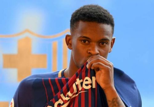 Semedo at his unveiling in Barcelona