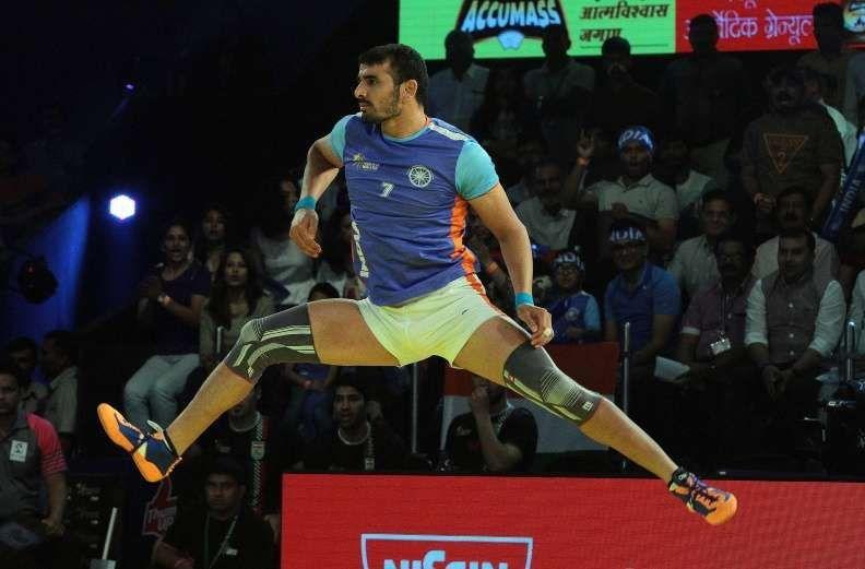 Ajay Thakur is a livewire on the mat as a raider.