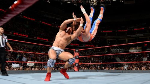 Jordan put Hawkins away with a suplex/neckbreaker combo