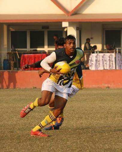 Amaresh in action during a rugby match.