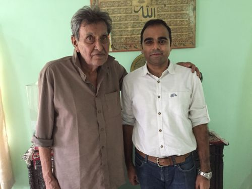 Author with Salim Durani at his Jamnagar residence