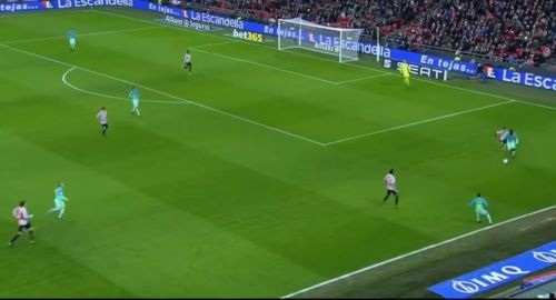 Athletic Bilbao high pressing against Barcelona in their 2-1 win in 2016/17 Copa del Rey