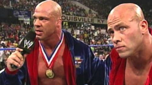 Kurt Angle with his brother Eric Angle.