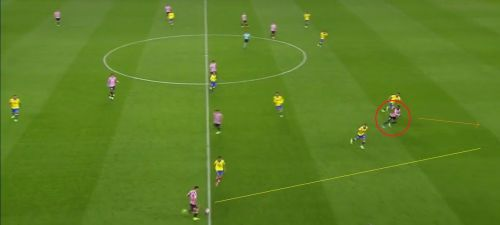 Inaki Williams dropped deep into midfield to draw the opposition defence and run into the space behind
