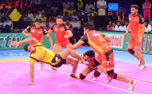 Rahul Chaudhari created history by being the only player to collect 500 raid points